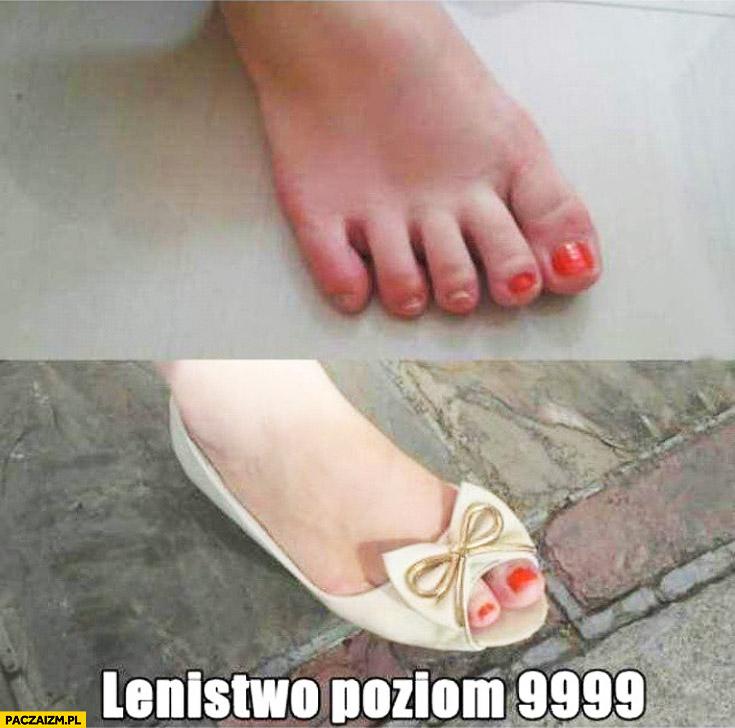 Lenistwo poziom 9999 pomalowane tylko dwa palce u stopy