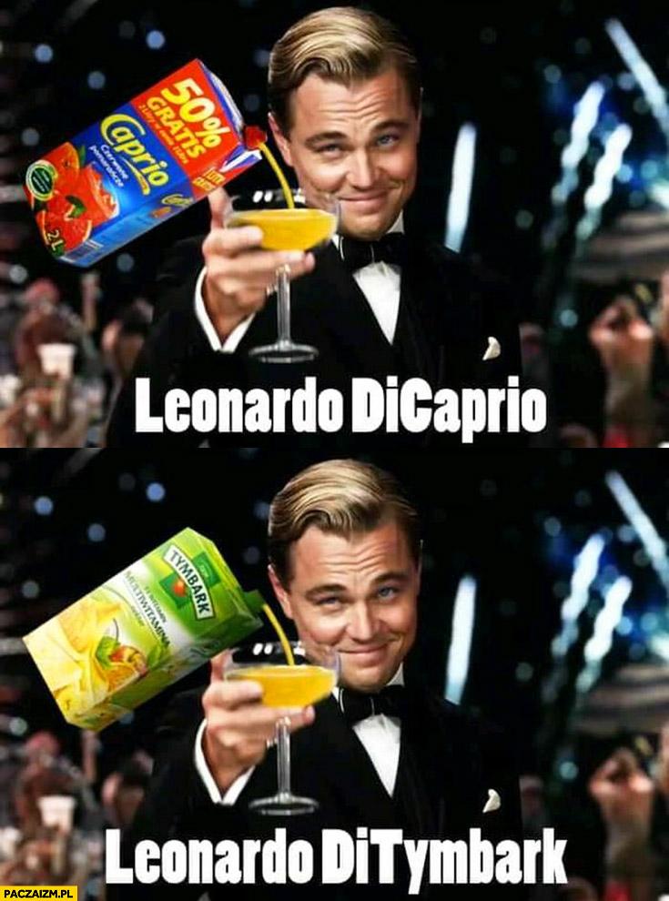 Leonardo DiCaprio DiTymbark sok napój Caprio Tymbark