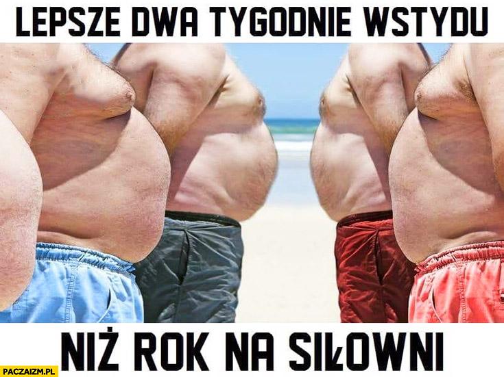 Lepsze dwa tygodnie wstydu niż rok na siłowni gruby brzuch