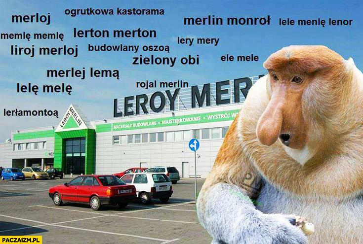 Leroy Merlin wymowa nazwy typowy Polak nosacz
