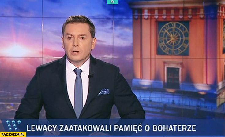 Lewacy zaatakowali pamięć o bohaterze Wiadomości TVP nagłówek tytuł