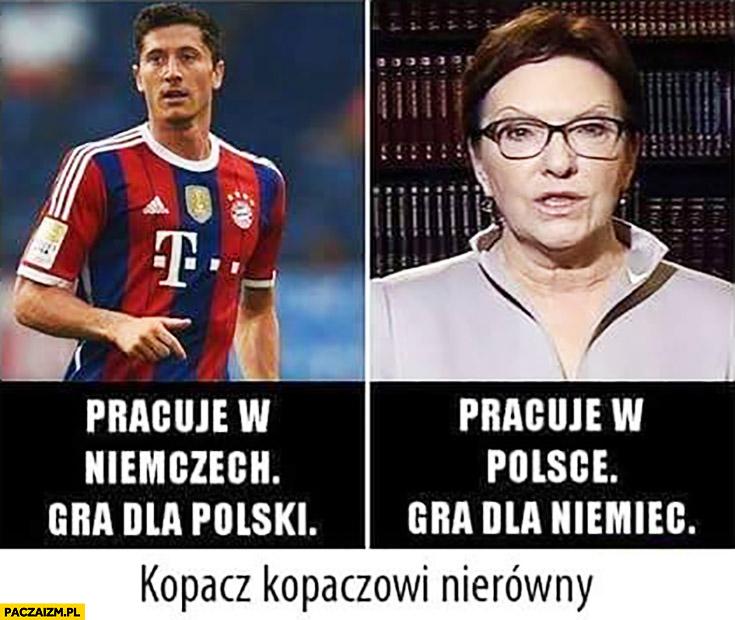 Lewandowski Ewa Kopacz kopaczowi nierówny