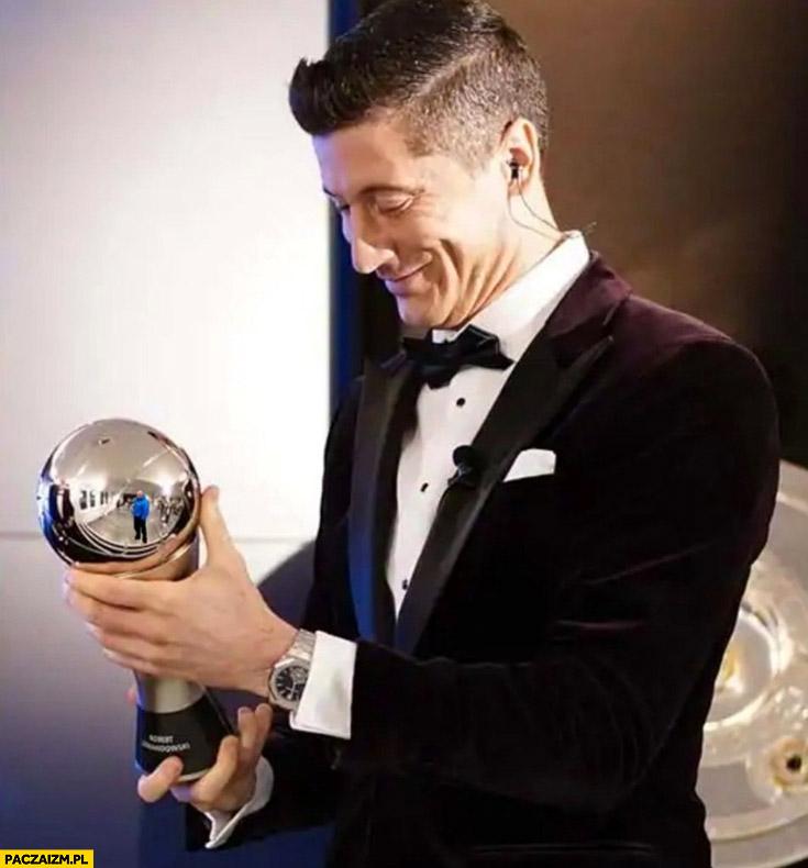 Lewandowski nagroda FIFA the best Najman w odbiciu przeróbka