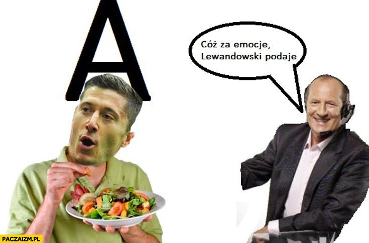 Lewandowski podaje pod A je