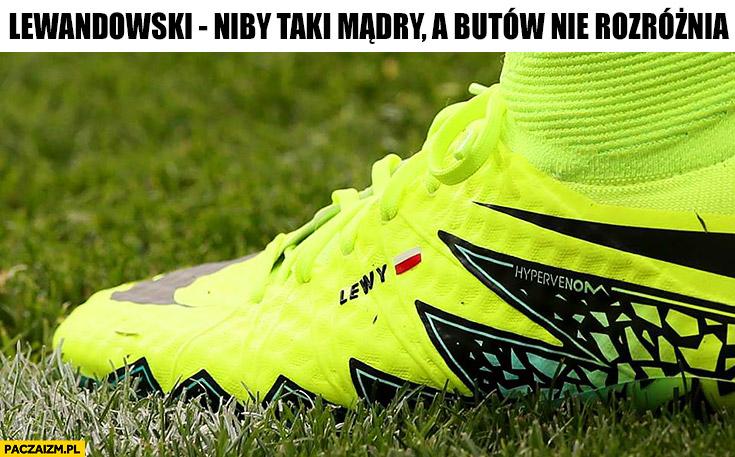 Lewandowski podpisany but Lewy niby taki mądry a butów nie rozróżnia