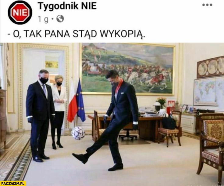Lewandowski w pałacu prezydenckim o tak pana stąd wykopią tygodnik nie
