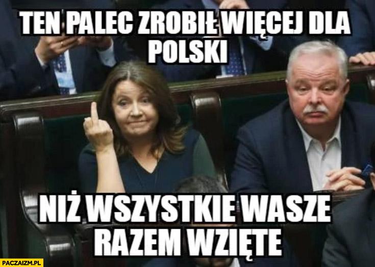 Lichocka ten palec zrobił więcej dla Polski niż wszystkie wasze razem wzięte fak faker