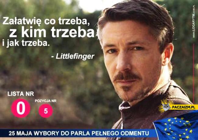 Littlefinger do europarlamentu Gra o tron