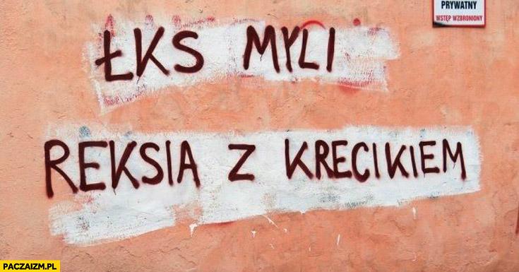 ŁKS myli Reksia z Krecikiem
