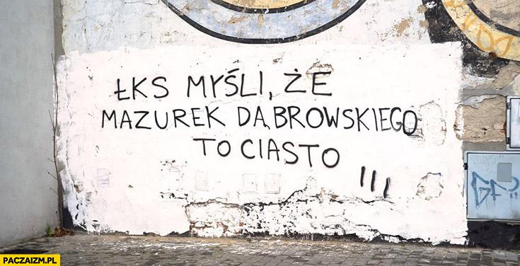 ŁKS myśli, że Mazurek Dąbrowskiego to ciasto