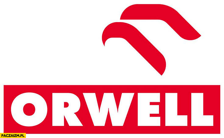 Logo Orlen Orwell przeróbka