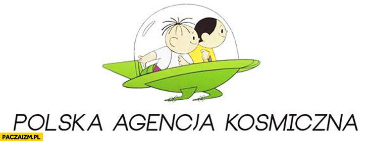 Logo Polskiej Agencji Kosmicznej Bolek i Lolek