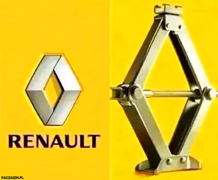 Logo Renault wyjaśnione wygląda jak lewarek podnośnik Reno