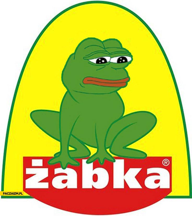 Logo Żabka smutna żaba
