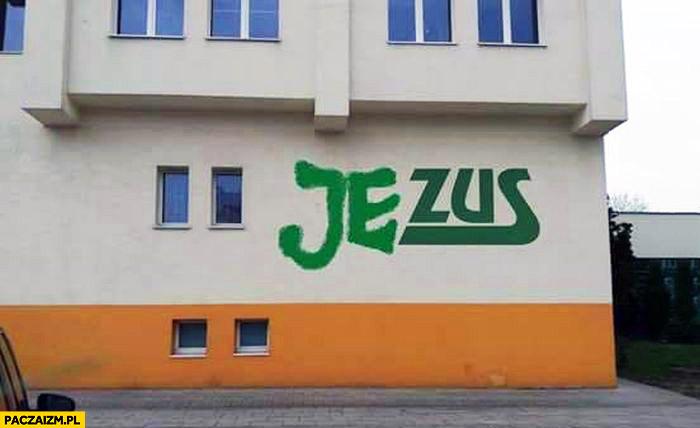 Logo ZUS przerobione na Jezus