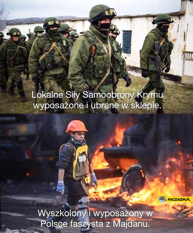 Lokalne siły samoobrony Krymu faszysta z Majdanu