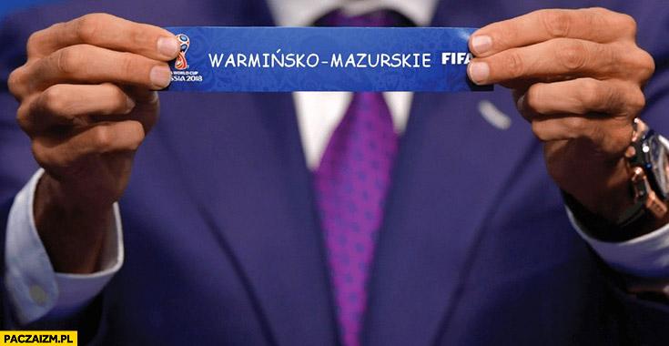 Losowanie nowych obostrzeń wylosowano województwo warmińsko-mazurskie