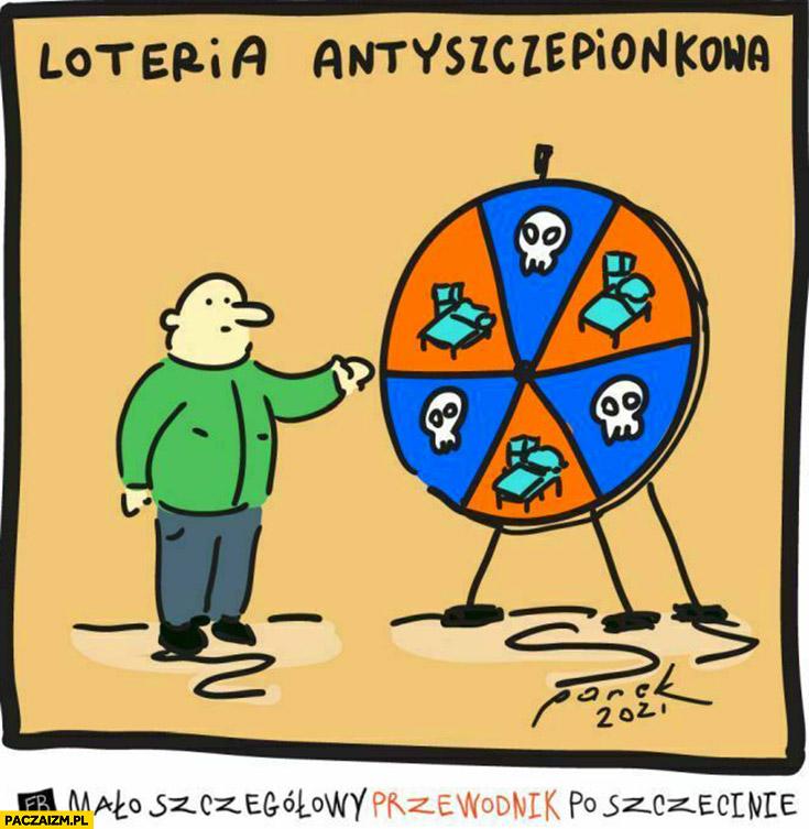 Loteria antyszczepionkowa szpital śmierć