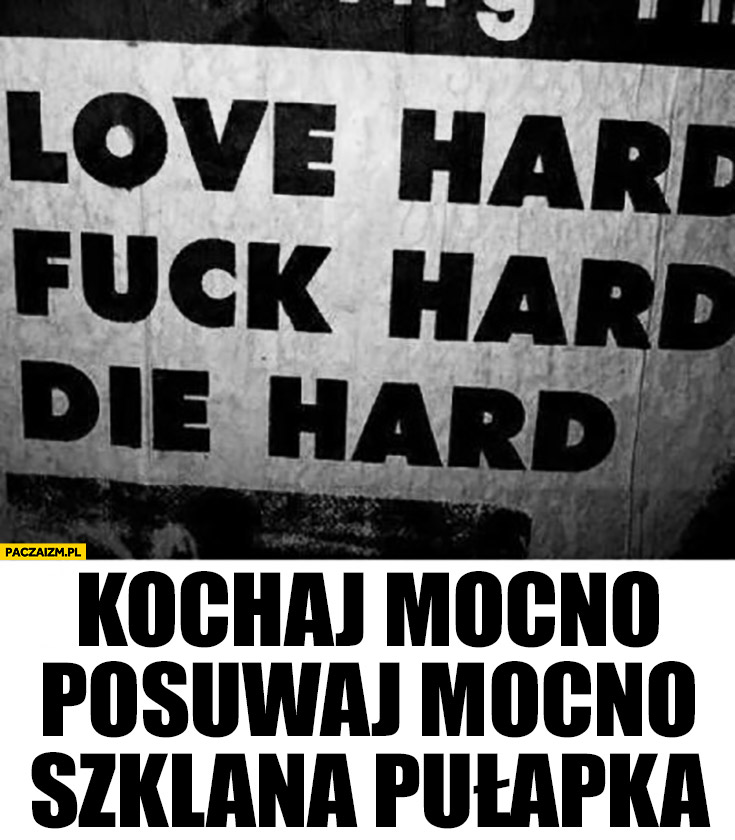 Love hard, die hard – kochaj mocno, posuwaj mocno, szklana pułapka