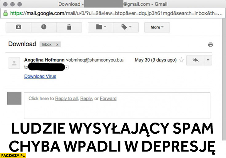 Ludzie wysyłający spam chyba wpadli w depresję download virus