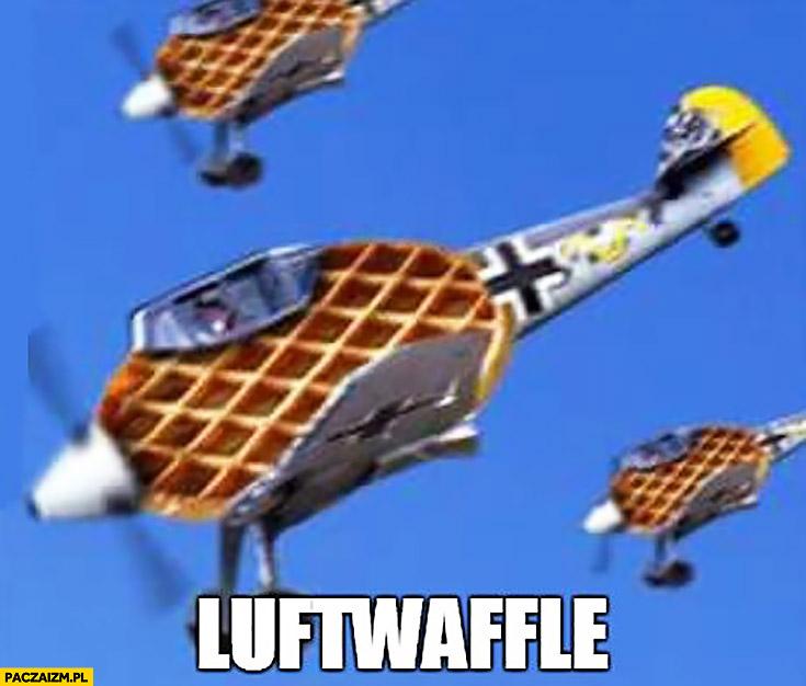 Luftwaffle latające wafelki wafle przeróbka Luftwaffe