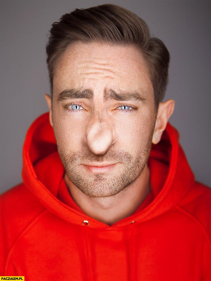 Łukasz Jakóbiak nos typowego polaka nosacz przeróbka