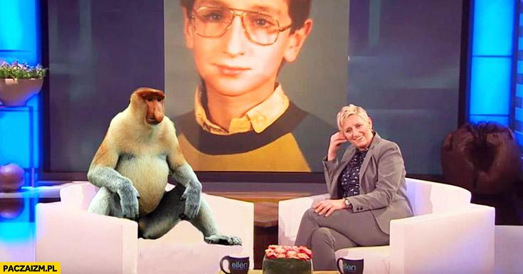 Łukasz Jakóbiak w programie u Ellen typowy Polak nosacz