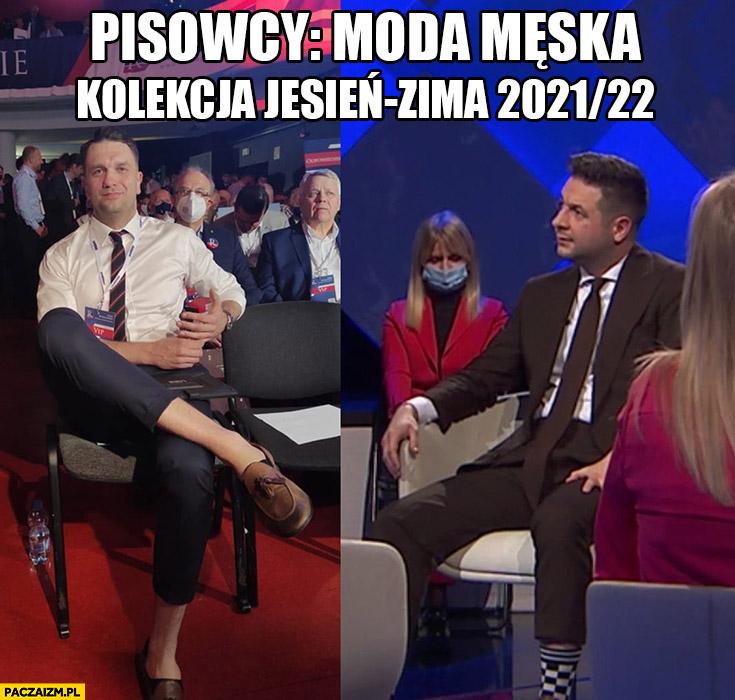 Łukasz Mejza Patryk Jaki pisowcy moda męska kolekcja jesień zima