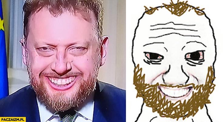 Łukasz Szumowski minister zdrowia rysunek rysunkowa podobizna