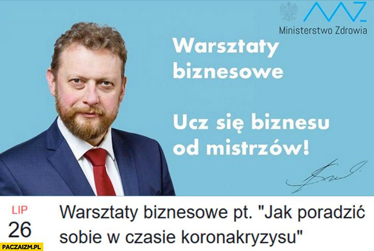 Łukasz Szumowski warsztaty biznesowe jak poradzić sobie w czasie koronakryzysu