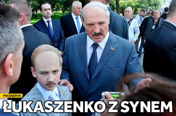 Łukaszenko z synem