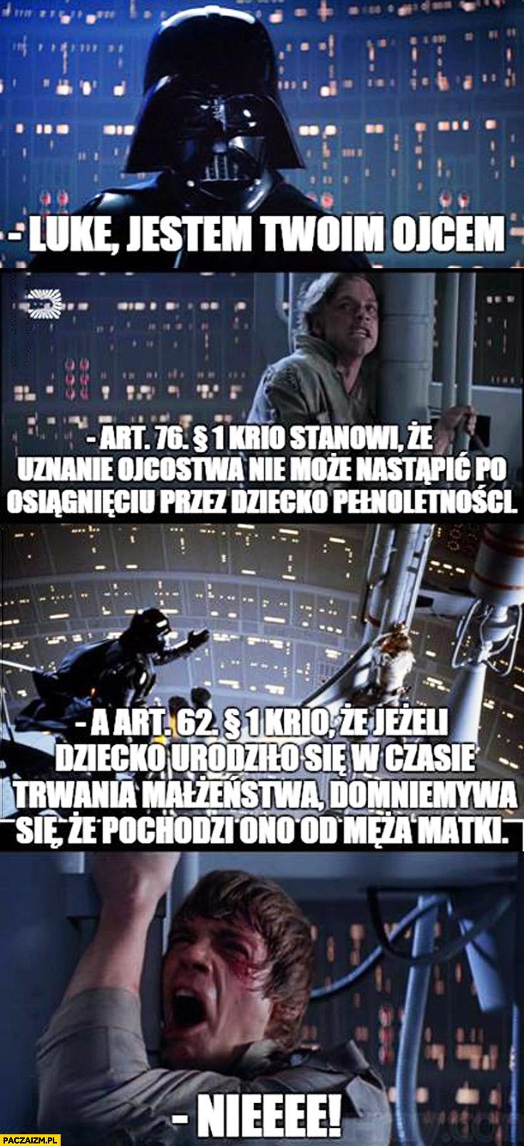 Luke jestem Twoim ojcem przepisy prawne Skywalker Vader Star Wars