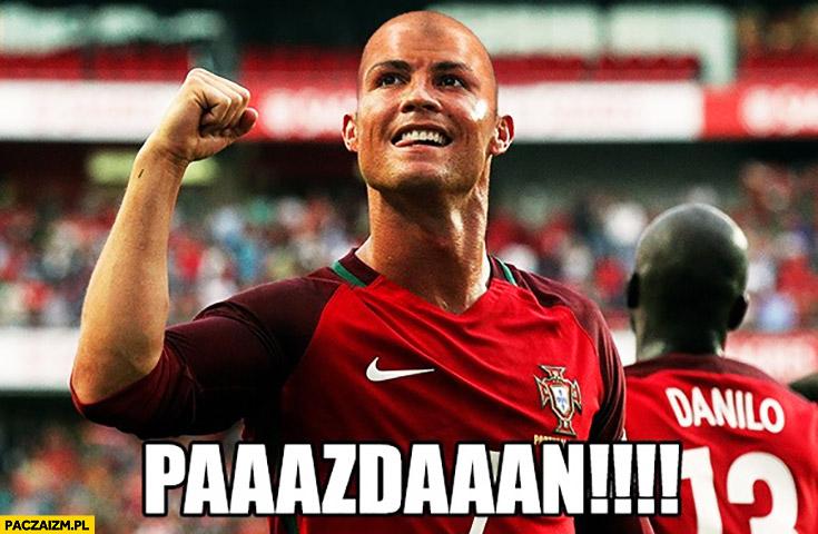 Łysy Ronaldo jak Pazdan przeróbka