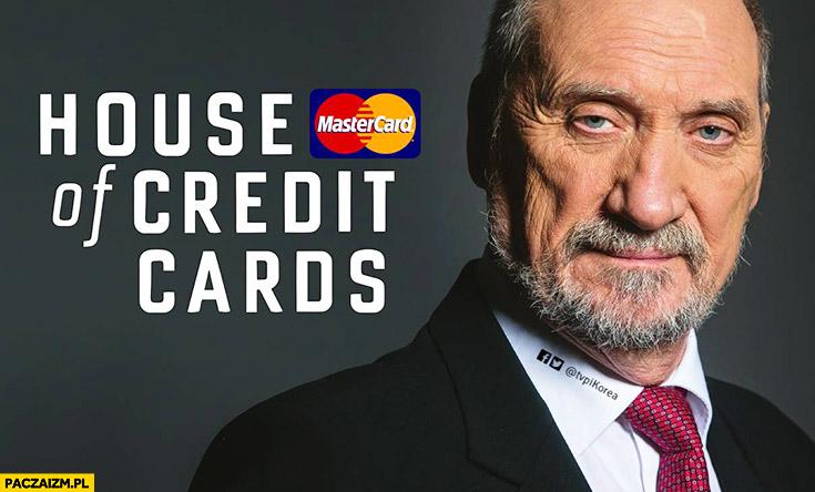 Macierewicz House of credit cards Mastercard przeróbka