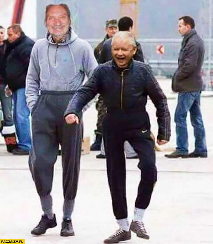 Macierewicz Kaczyński dresiarze dresy ortalion przeróbka photoshop