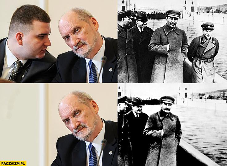 Macierewicz usuwa Misiewicza ze zdjęcia jak Stalin