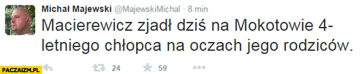Macierewicz zjadł dziś na Mokotowie 4-letniego chłopca na oczach jego rodziców