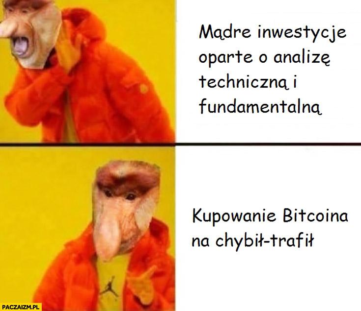 Mądre inwestycje oparte o analizę techniczna i fundamentalna vs kupowanie bitcoina na chybił-trafił typowy Polak nosacz
