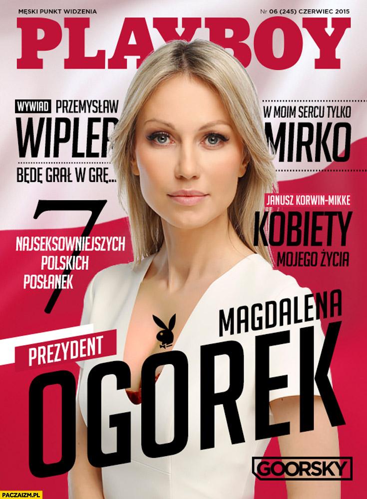 Magdalena Ogórek Playboy okładka
