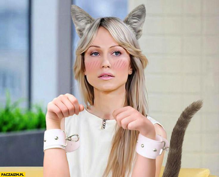 Magdalena Ogórek przeróbka kot kotek kocica