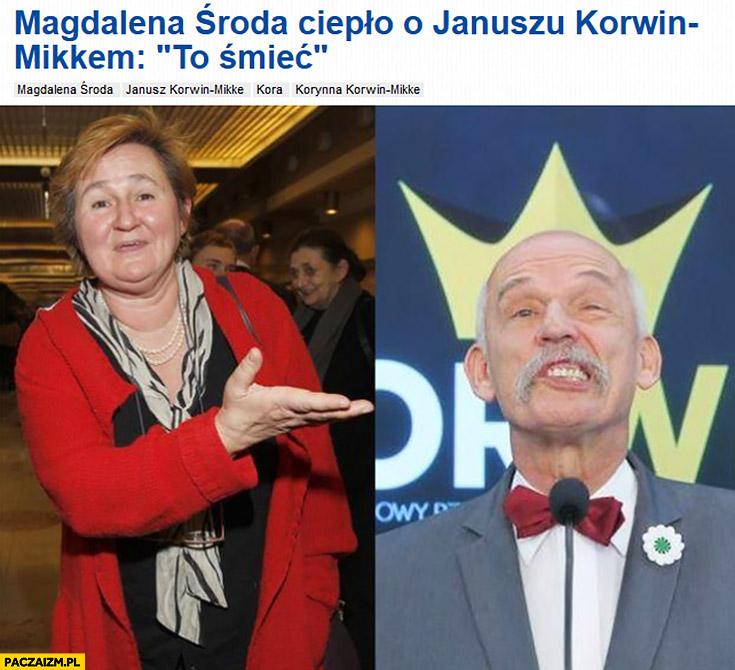 Magdalena Środa ciepło o Januszu Korwin-Mikkem to śmieć nagłówek z Pudelka