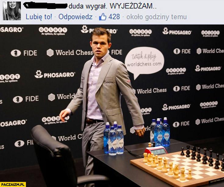 Magnus Carlsen Duda wygrał wyjeżdżam