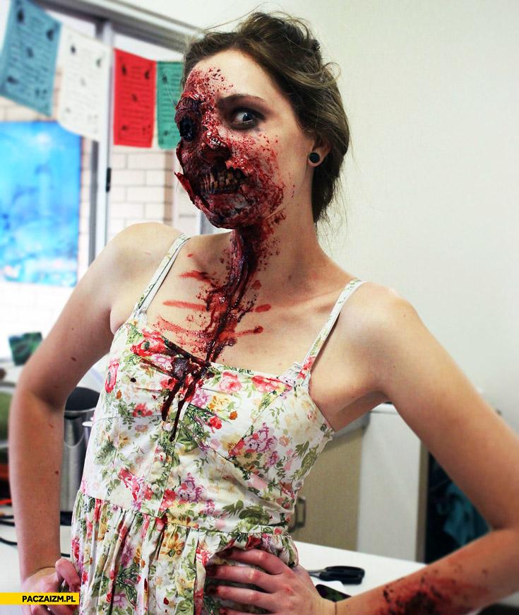 Makijaż zombie