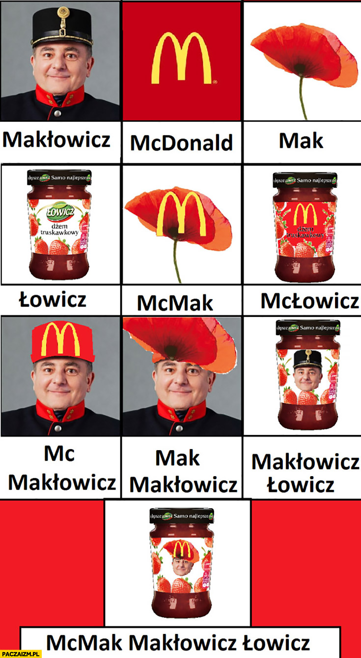 Makłowicz McDonald Mak Łowicz McMak Makłowicz Łowicz
