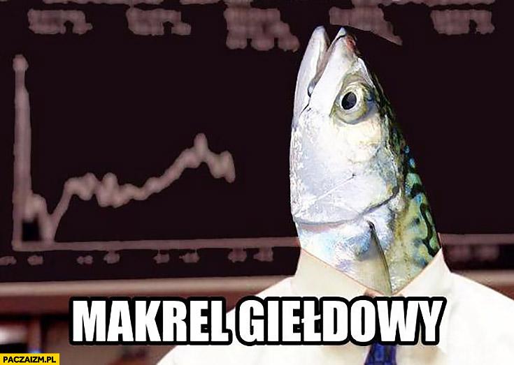 Makrel giełdowy makrela makler giełdowy z głowa ryby