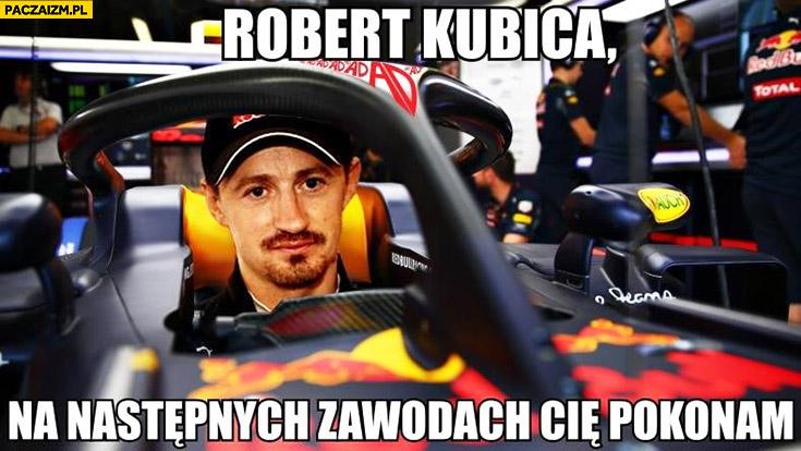 Małysz Robert Kubica na następnych zawodach Cię pokonam