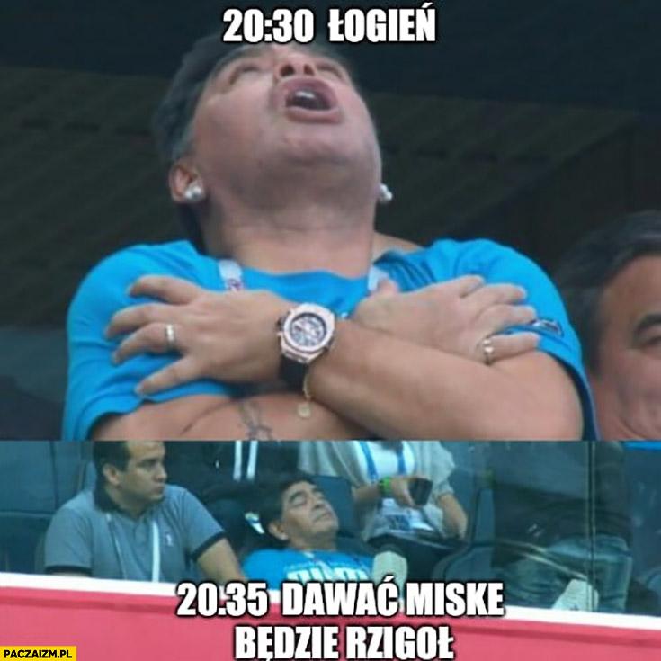 Maradona 20:30 ogień, 20:35 dawać miskę, będzie rzygał mecz Argentyny na mundialu