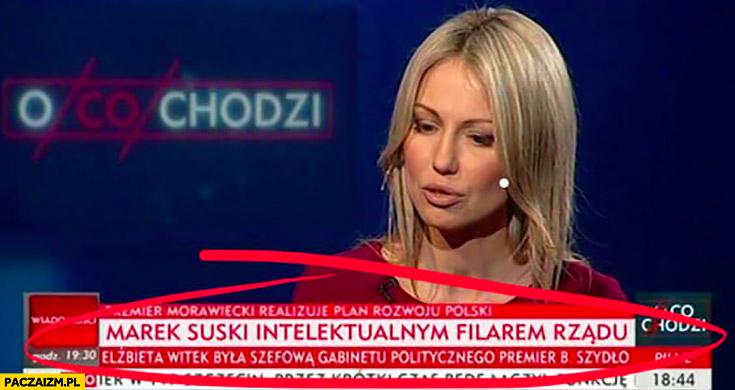 Marek Suski intelektualnym filarem rządu pasek TVP Info