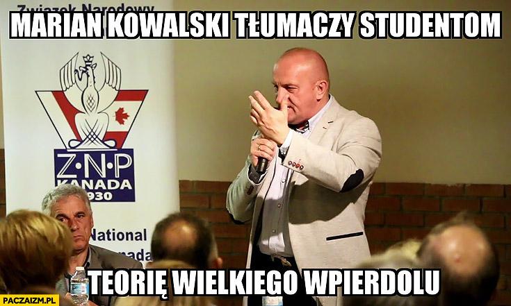 Marian Kowalski tłumaczy studentom teorię wielkiego wpierdolu