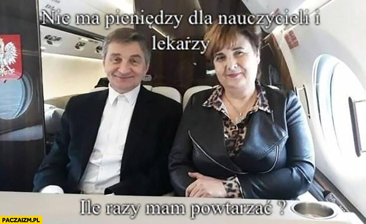 Marszałek Kuchciński nie ma pieniędzy dla nauczycieli i lekarzy ile razy mam powtarzać?